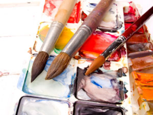 Water Color Paints and Brushes