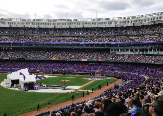 NYU graduation at Yankee Stadium