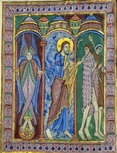 The Expulsion of Adam and Eve from Paradise as depicted in the St. Albans Psalter