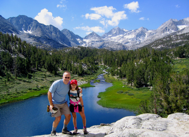 Joyful Kara with her dad, Mark