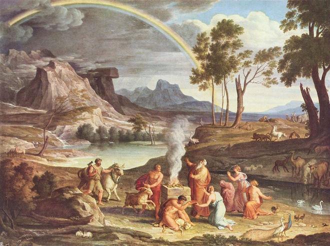 Painting of Noah Sacrificing after the Flood