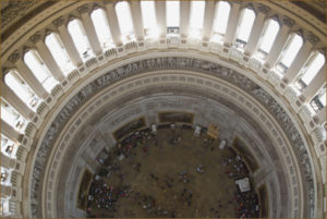 Looking Down to the Rotunda Floor from the U.S. Capitol Dome's Interior Balcony 2013