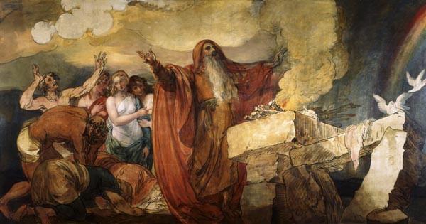 Noah Sacrificing after the Deluge, by Benjamin West, San Antonio Museum of Art