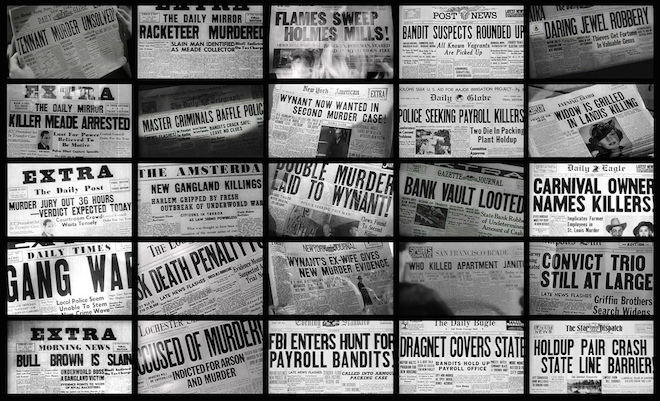 Noir headlines from The Thin Man, Gun Crazy, Talk of The Town and some other excellent films.