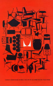 Red and Black poster Ad for Herman Miller.