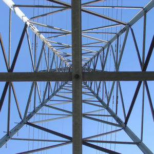 Photograph of Power Transmission Tower from Below