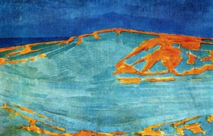 Dune in Zeeland, painting by Piet Mondrian