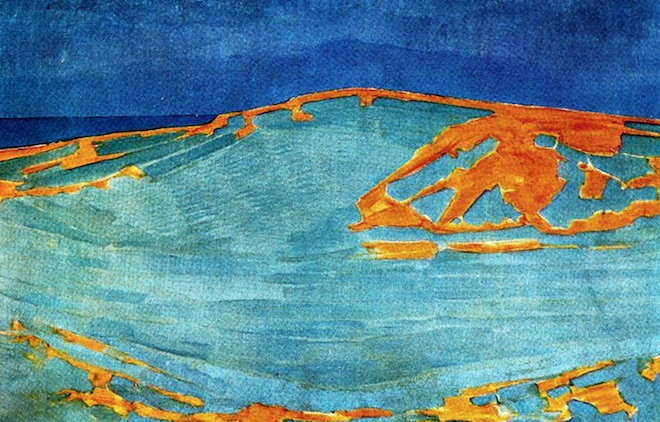 Dune in Zeeland, painting by Piet Mondrian