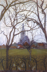 Village Church, painting by Piet Mondrian