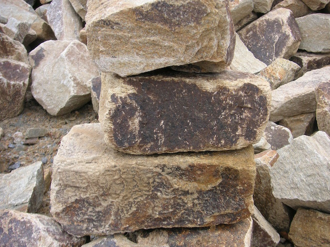 Photograph of a pile of rocks
