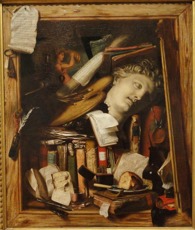 """Painting """"The Vanity of the Artist's Dream"""" by Charles Bird King"""