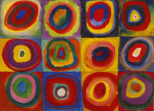 Kandinsky's Color Study: Squares with Concentric Circles