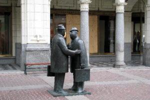 Photo of sculpture, The Conversation by William McElcheran