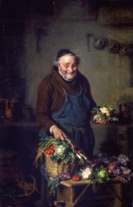 """Painting """"Monk in the Kitchen"""" 1880 by Hermann Kern"""