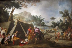 """Painting """"Laban Searching for his Stolen Household Gods"""" by Bartolomé Esteban Murillo, circa 1660"""