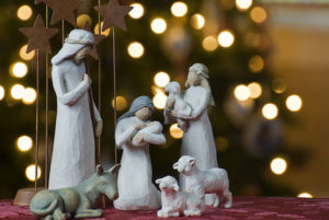 Nativity Scene, Willow Tree Figurines.