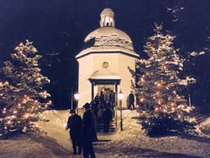 Silent Night Chapel in Oberndorf bei Salzburg, Austria.