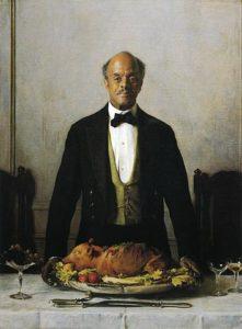 The Steward by Joseph DeCamp; aka Portrait of George Washington Lewis (1919)