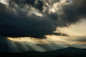 Heavenly Sunlight in the Blue Ridge Mountains