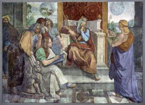Joseph Interprets Pharaoh's Dream (fresco circa 1816–1817 by Peter von Cornelius)