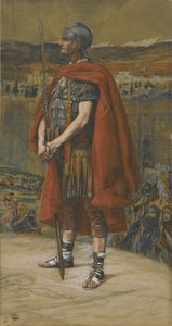 """""""The Centurion,"""" watercolor by James Tissot"""