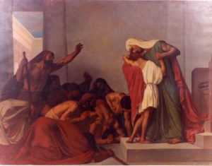 """Joseph Recognized by His Brothers"" by Léon Pierre Urbain Bourgeois"