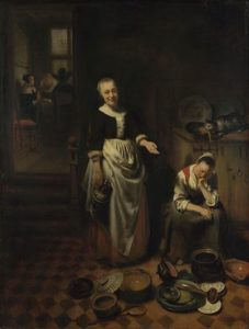 The Idle Servant. Nicolaes Maes, 1655. Oil on canvas.