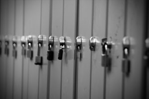 A row of padlocks