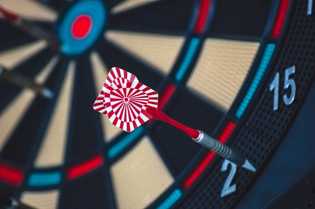 Don't miss the mark - A dart on the dart board