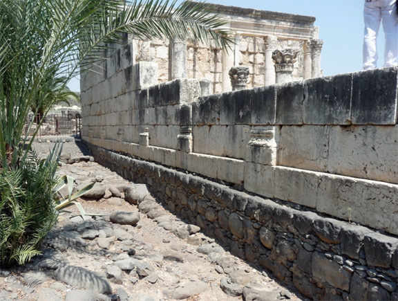 The synagogue in Capernaum.