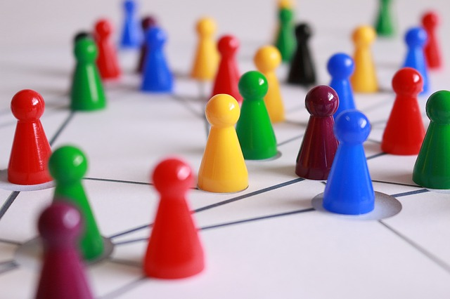Connections in networking that surround a person