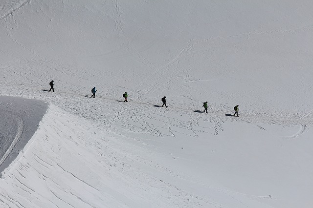A group of people on an expedition.