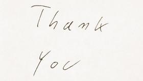 Thank you written