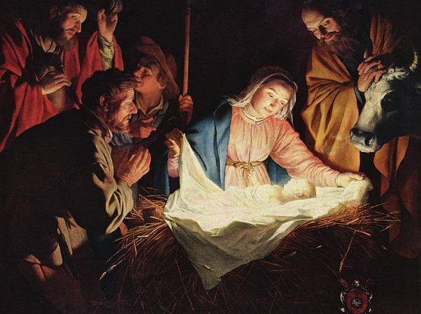 The Adoration of the Shepherds, 1622. Color on Canvas; by Gerard van Honthorst.