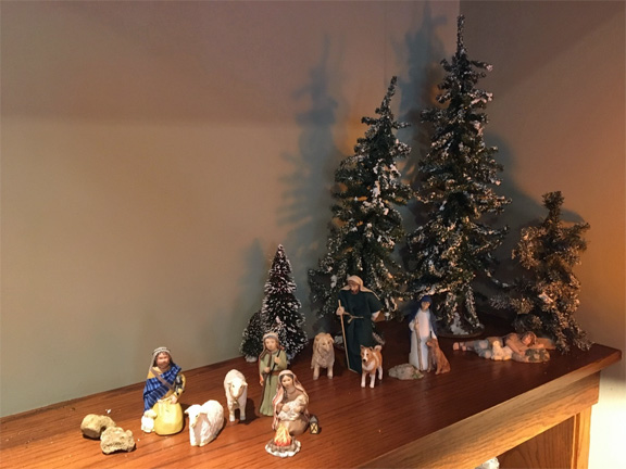The shepherds and company of our Nativity set.