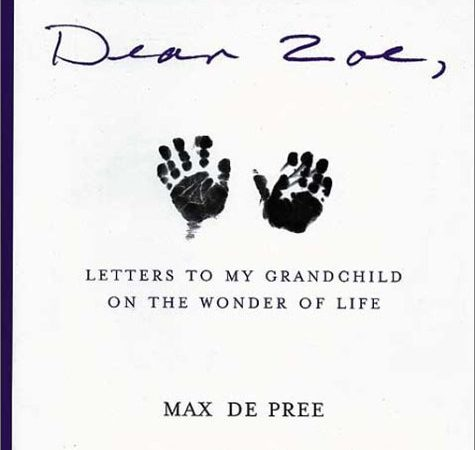 """A picture of the cover of Max's book """"Letters to Zoe""""."""