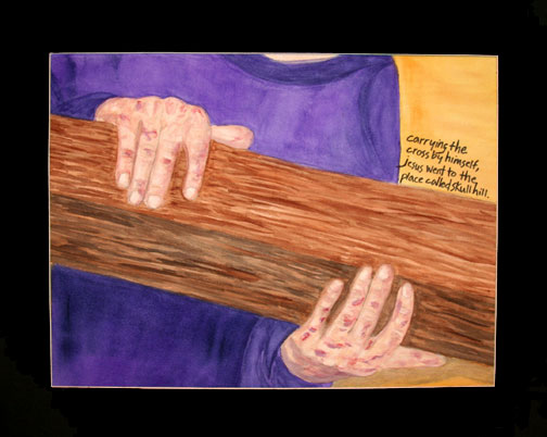 The Seventh Station: Jesus Takes Up His Cross