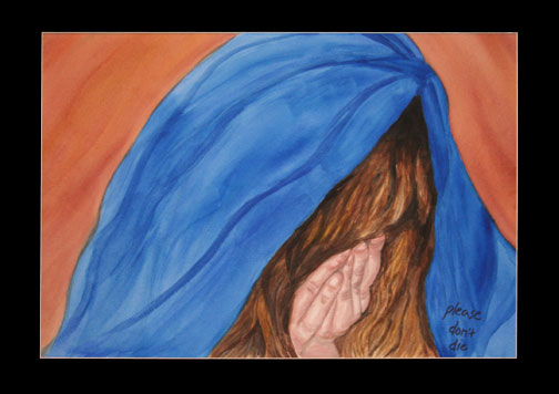 The woman weeping for Jesus. Painting © Linda E.S. Roberts, 2007. For permission to use this picture, contact Mark D. Roberts.