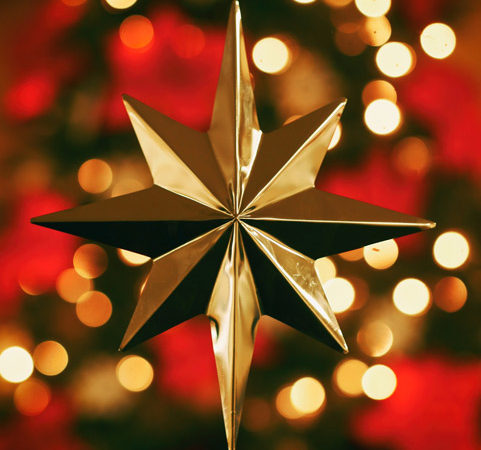 A Christmas tree topper in the shape of the star that guided the magi.