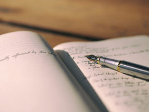 Writing yourself into God's story with a fountain pen and notebook.