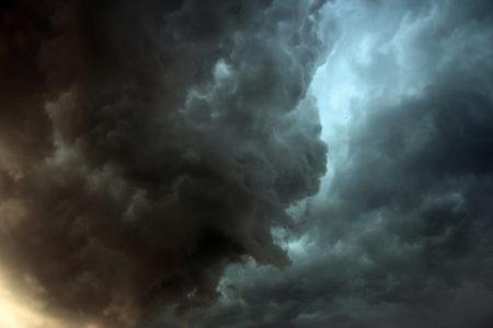 An ominous storm cloud.
