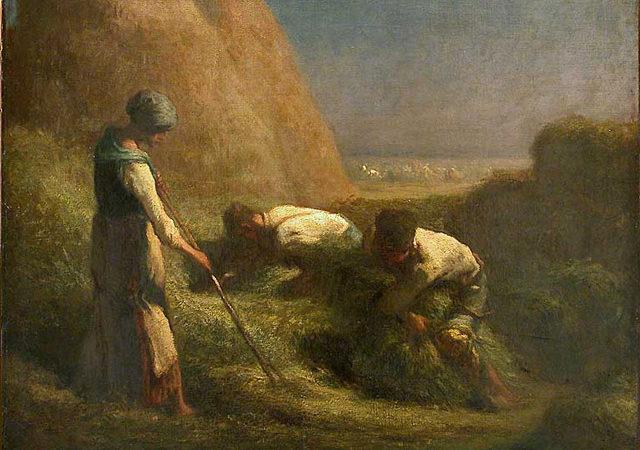 Les Botteleurs de Foin by Jean-Francois Millet (1850)