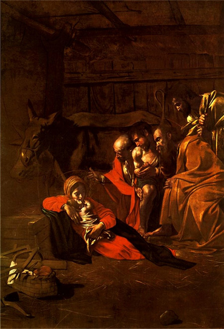 The Adoration of the Shepherds by Caravaggio (1609).