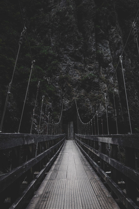 A bridge in the mountains.