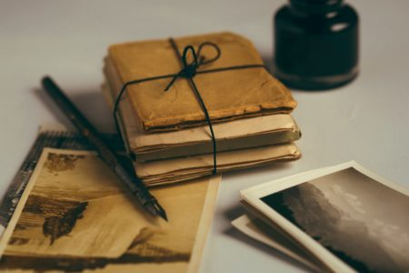 vintage parcel of letters tied up with string