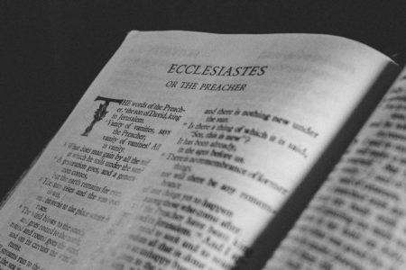 The Bible open to Ecclesiastes