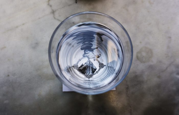 A full glass of water