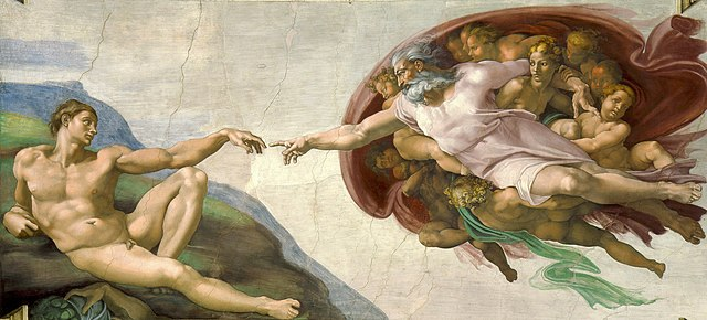 Creation of Adam by Michelangelo (1512)