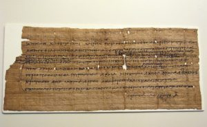 An ancient Greek papyrus