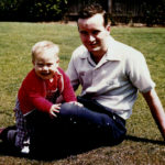 Mark with his father as a toddler